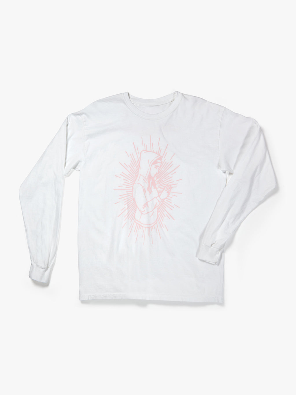 BAD BILLY SALE // White Long Sleeved Tee with Saint Billy!
