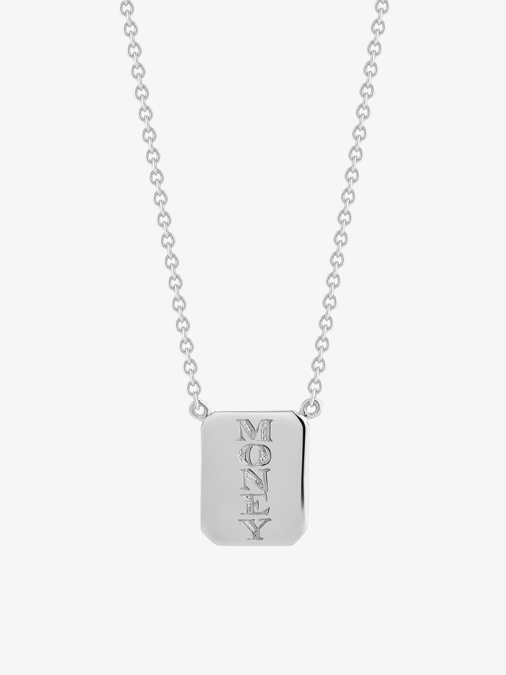 Love•Money Edition Silver Tag Necklace