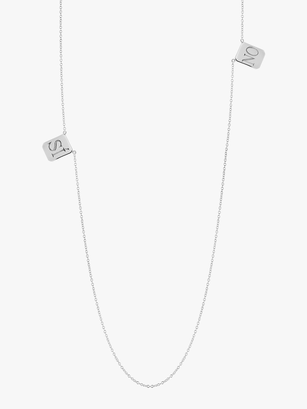 SI•NO Edition Silver Tag Necklace