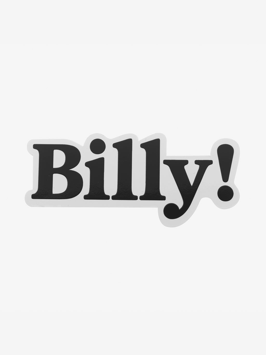 Classic Vinyl Stickers | Billy!