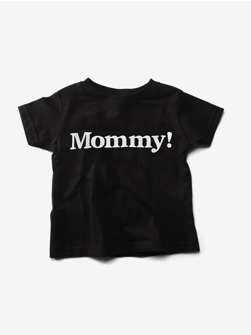 Billy! Mommy! black short sleeved cotton t shirt