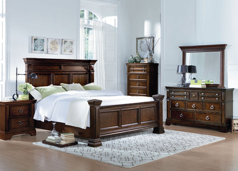 Charleston Bedroom set King Size bed/ Juego de Recámara Charleston cama King Size