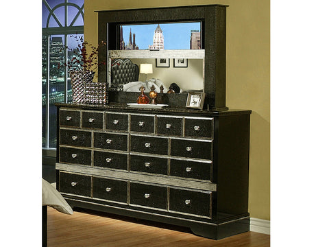 Hollywood Glamour Dresser and mirror / Peinador y espejo Hollywood Glamour
