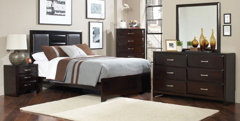 Palmetto Bedroom set King Size bed / Juego de Recámara Palmetto cama King Size