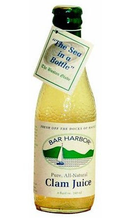 Bar Harbor Pure, All Natural Clam Juice - 8 oz glass bottle