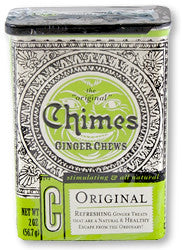 Chimes All Natural Original Ginger Chews - 2 oz Tin