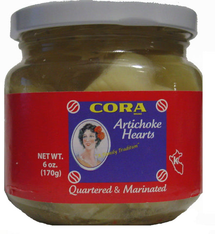 Cora Quartered & Marinated Artichoke Hearts - 6 oz