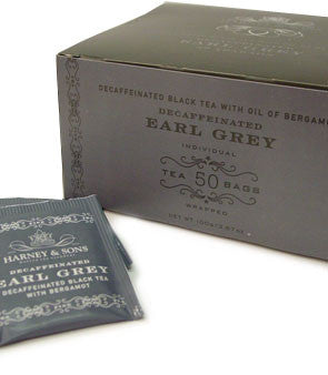 Harney & Sons Fine Teas Decaffeinated Earl Grey with Bergamot - 50 Teabags