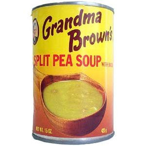 Grandma Brown's Spilit Pea Soup with Bacon - 15 oz can