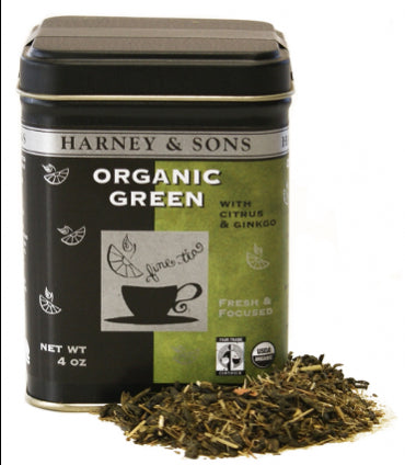 Harney & Sons Fine Teas Organic Green with Citrus & Ginkgo Loose Tea Tin - 4 oz