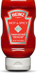 Heinz Hot & Spicy Tomato Ketchup with Tabasco Brand Pepper Sauce - 14 oz