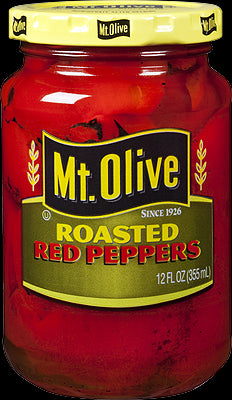 Mt. Olive Roasted Red Peppers - 12 oz Glass Jar