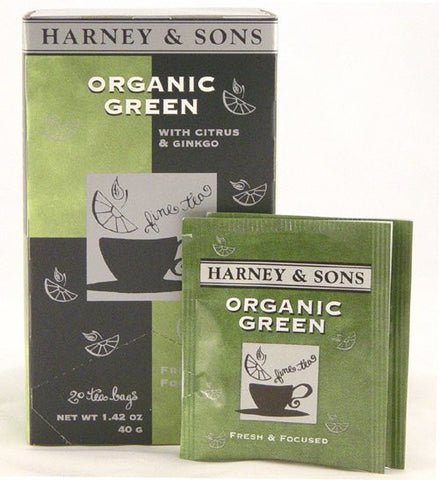 Harney & Sons Fine Teas Organic Green Citrus & Ginkgo - 20 Teabags