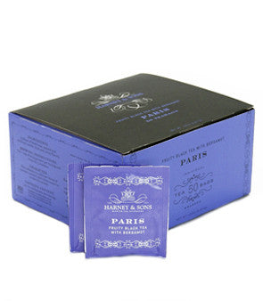 Harney & Sons Fine Teas Paris Fruity Black Tea with Bergamot - 50 Teabags