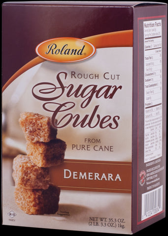Roland Rough Cut Demerara Sugar Cubes - 35 oz