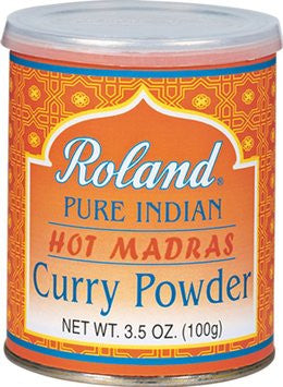 Roland Pure Indian Hot Madras Curry Powder - 3.5 oz