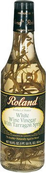 Roland French White Wine Vinegar with Tarragon Sprig - 16.9 oz