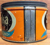 Vintage Sanka New Blend One Pound Coffee Tin - circa 1975