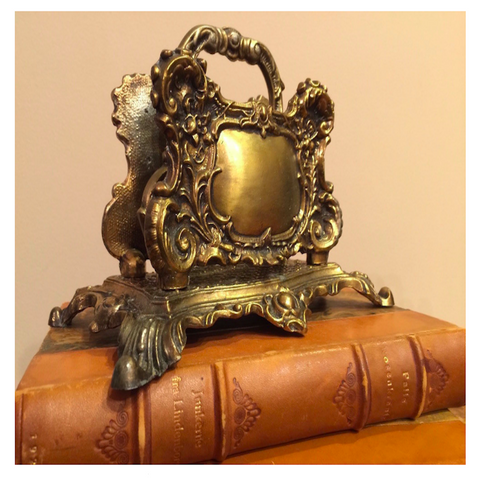Vintage Baroque Letter Holder or Napkin Holder II