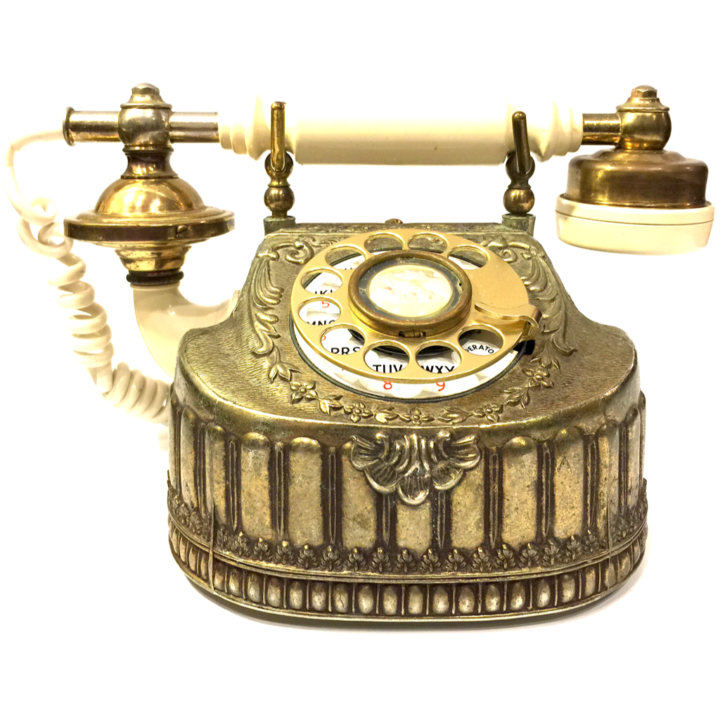Vintage Baroque Bronze Rotary Telephone – Boogie\'s Boutique