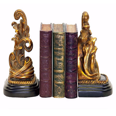 Decorative Old World Bookends (Set of 2)