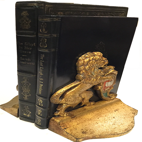 Vintage Majestic Lion Bookends