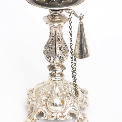 Ornate Silver Plated Candlestick Holder