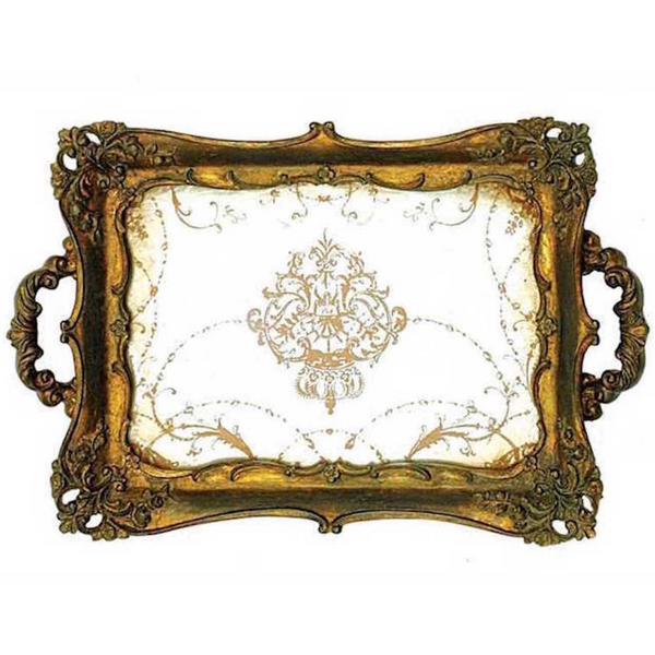 Small Elegant Mirrored Serving Tray