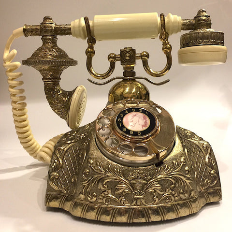 Vintage Ornate Rotary Telephone