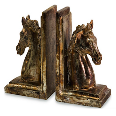 Ceramic Horse Bookends (Set of 2)