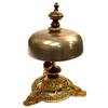 Antique 1866 Brass Victorian Hotel Desk Clerk Counter Bell
