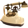 Vintage 1969 Electra Brass Decorative Rotary Telephone
