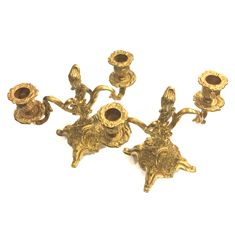 Gold Candelabra Candle Holder