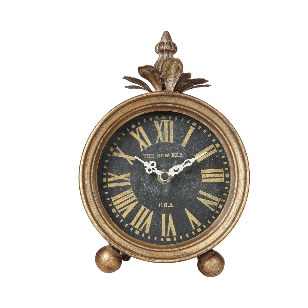 Golden Bronze Metal Table Clock Golden Bronze Metal Table Clock