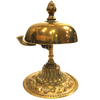 Vintage Brass Victorian Hotel Desk Clerk Counter Bell