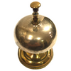 Antique Brass Victorian Hotel Desk Clerk Counter Bell