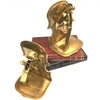 Vintage Brass Musical Instrument Bookends