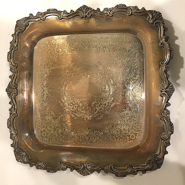 Vintage Essex Manor Silver Serving Tray