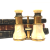 Vintage Mother of Pearl Brass Opera Glasses