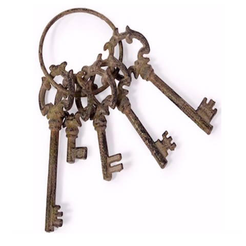 Weathered French Quarter Decorative Skeleton Keys