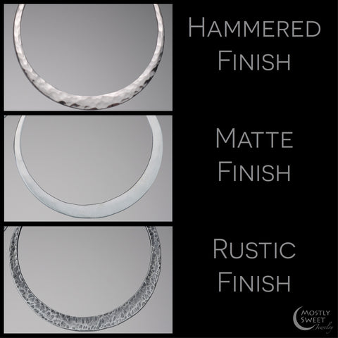 Hammered, Matte, and Rustic Hoop Finish