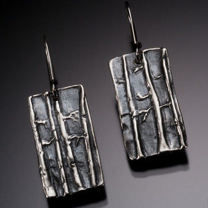 Aspen Grove Earrings handmade in sterling silver