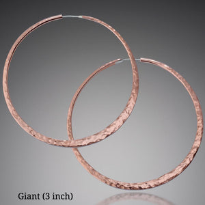 Earrings - Copper Hoop Earrings