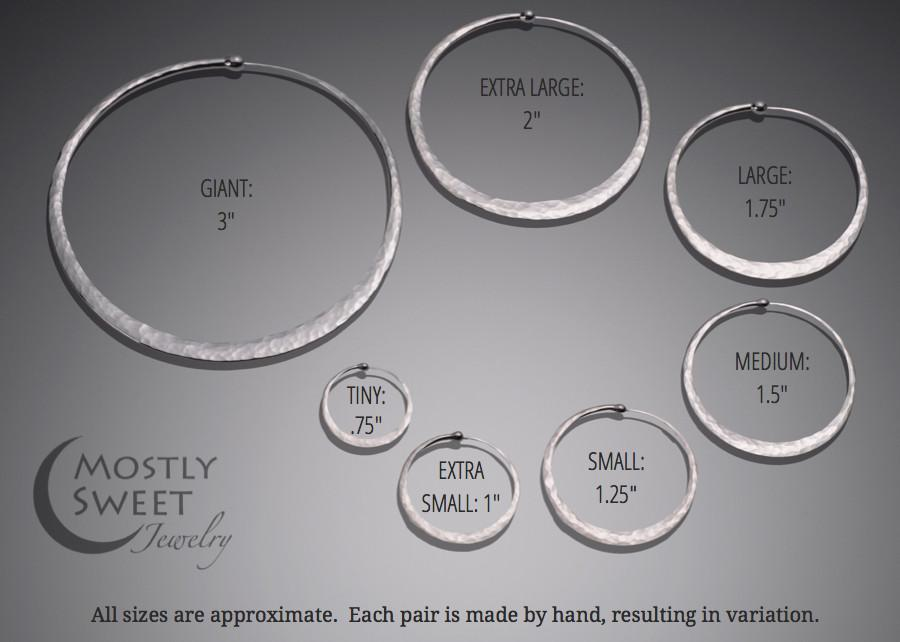 b9dd83291d3df Matte Sterling Silver Hoop Earrings