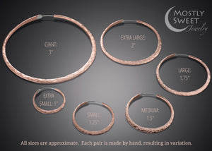 Earrings - Single Round Copper Hoop