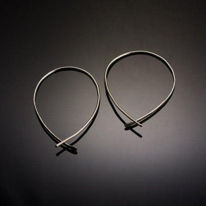 Earrings - Threader Loop Earrings In Sterling Silver