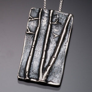 Aspen Grove Pendant in sterling silver