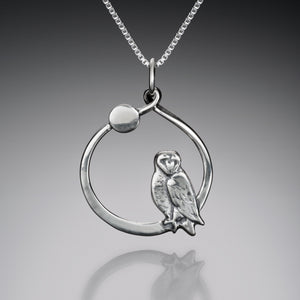 Pendants - Barn Owl By Moonlight