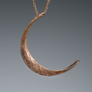 14k gold crescent moon necklace