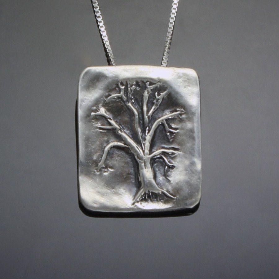 Oak tree pendant mostly sweet jewelry sterling silver oak tree pendant aloadofball Gallery